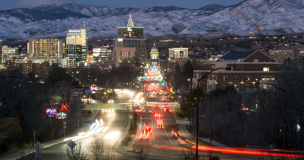Downtown Boise, cityscape, city skyline, Allison Corona photo.