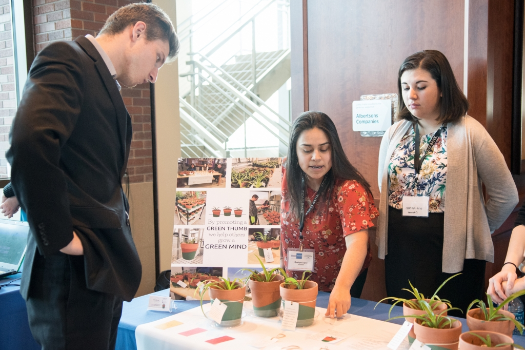 Students show off their proposals in the Idaho Entrepreneur Challenge