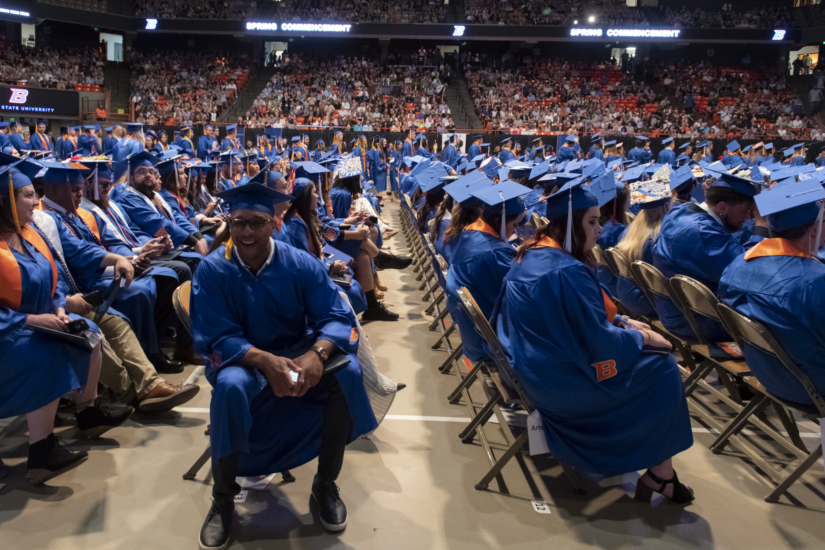 Boise State Spring Commencement 2019, morning ceremony, photo Patrick Sweeney