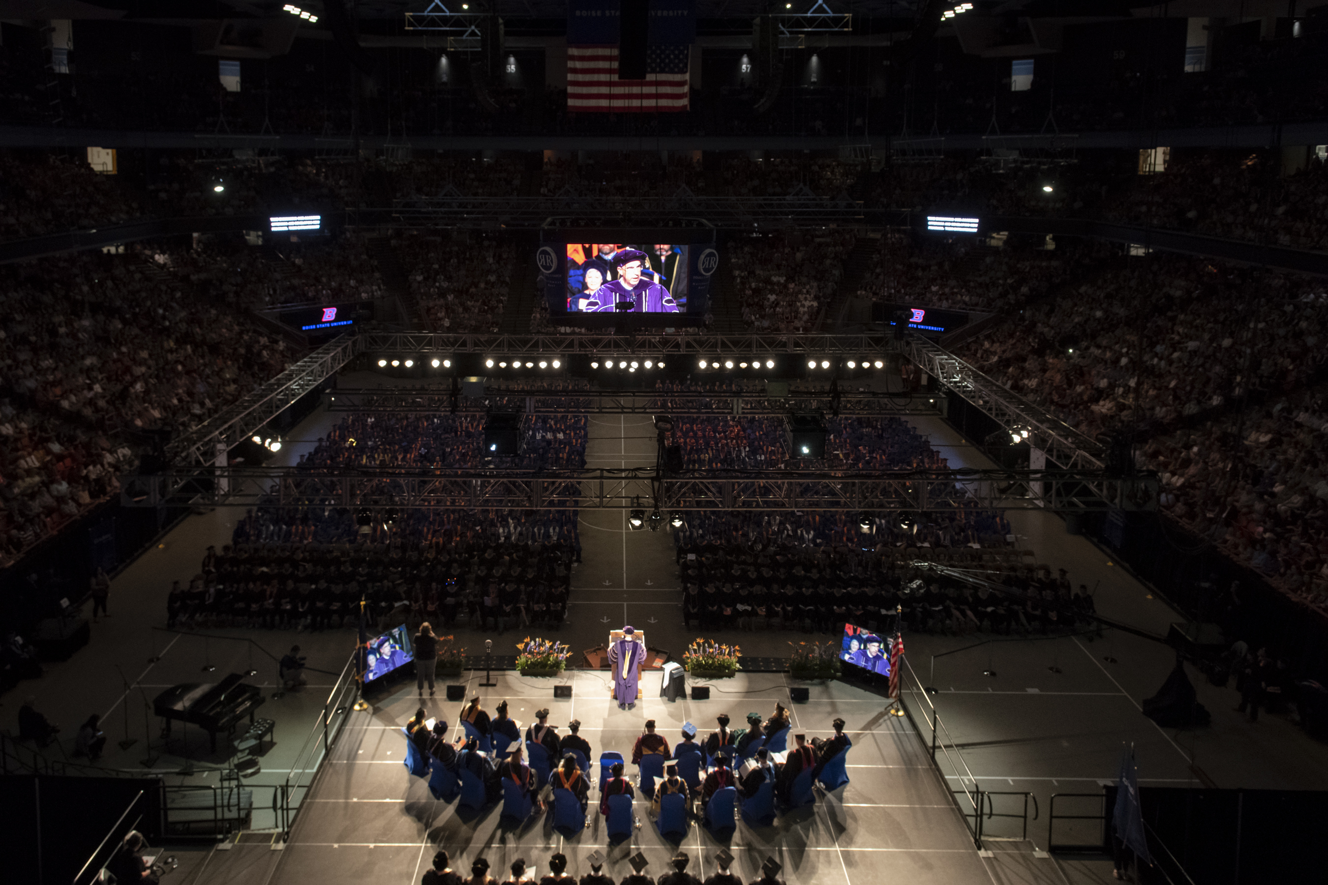 Boise State Spring Commencement 2019, afternoon ceremony, photo Patrick Sweeney