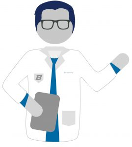 Graphic image of male nurse practitioner