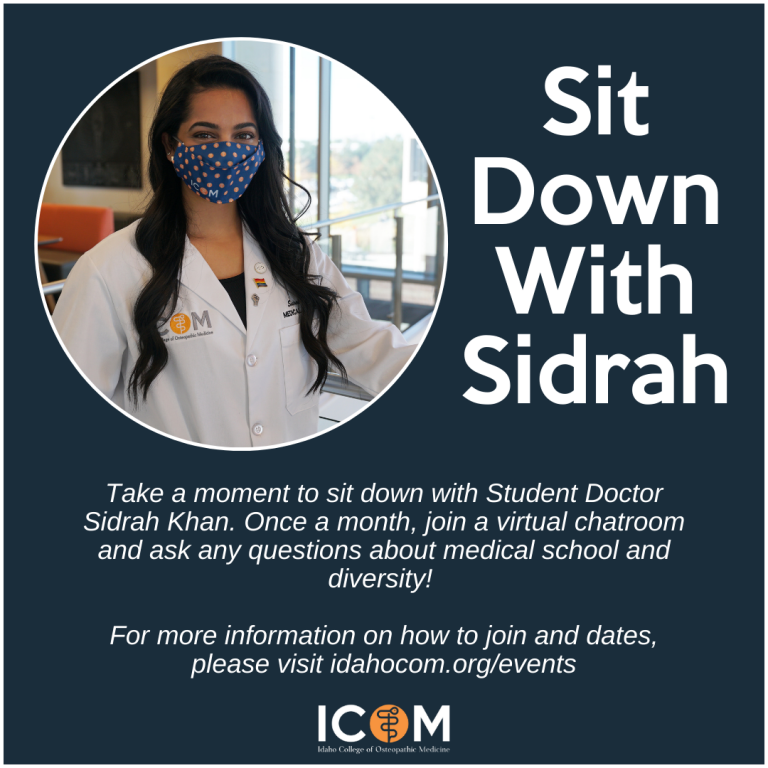 Flyer with photo of Sidrah Kahn