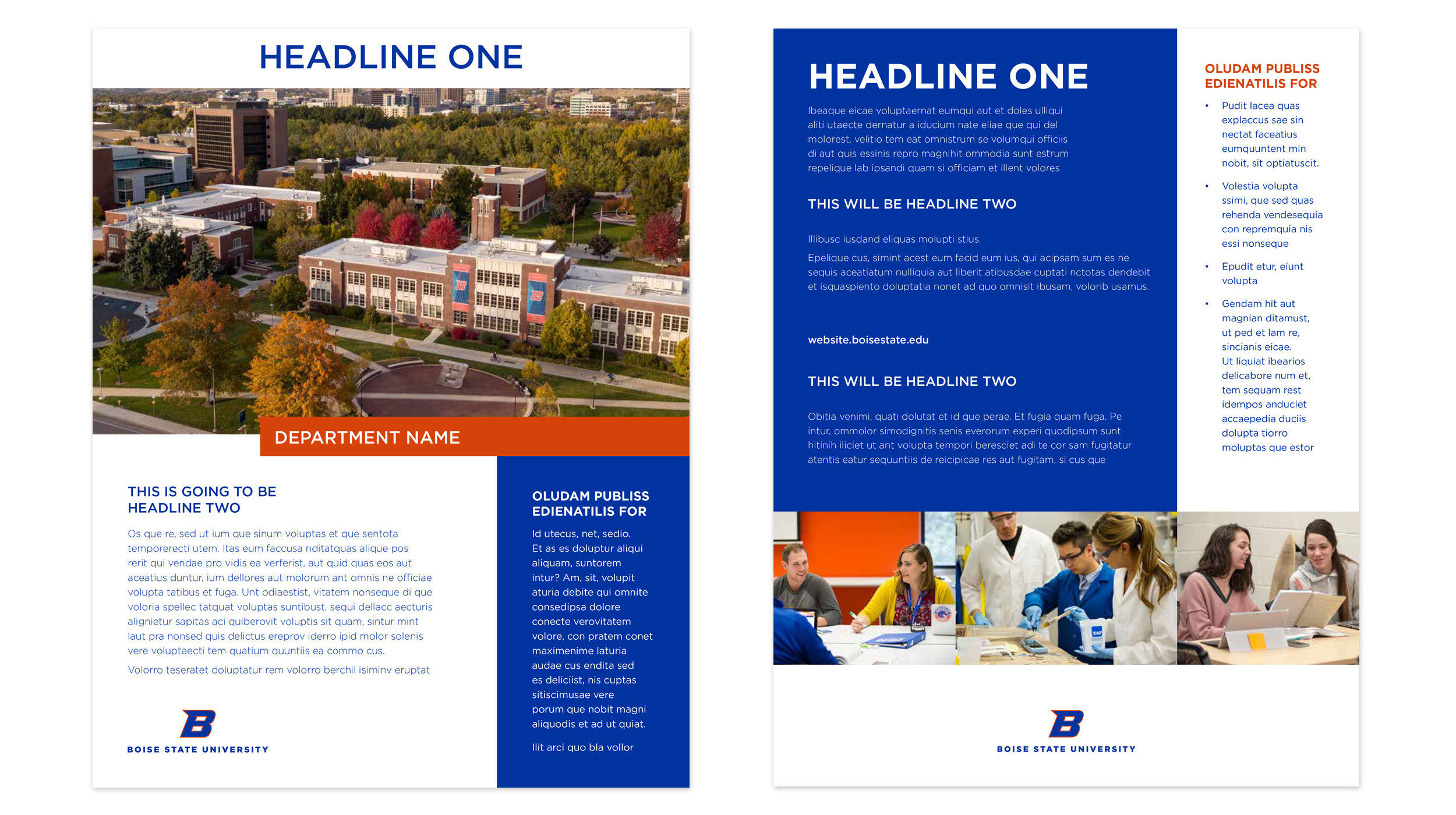 Examples of Boise State flyer designs