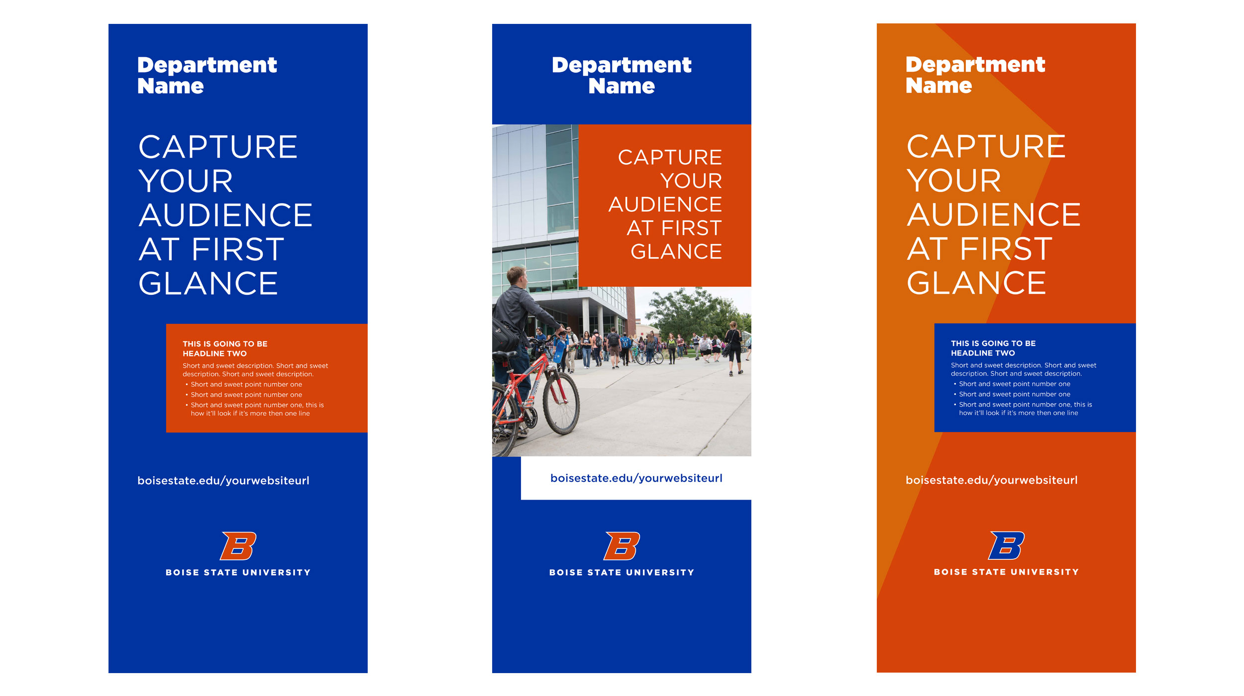Examples of Boise State pull up banner designs