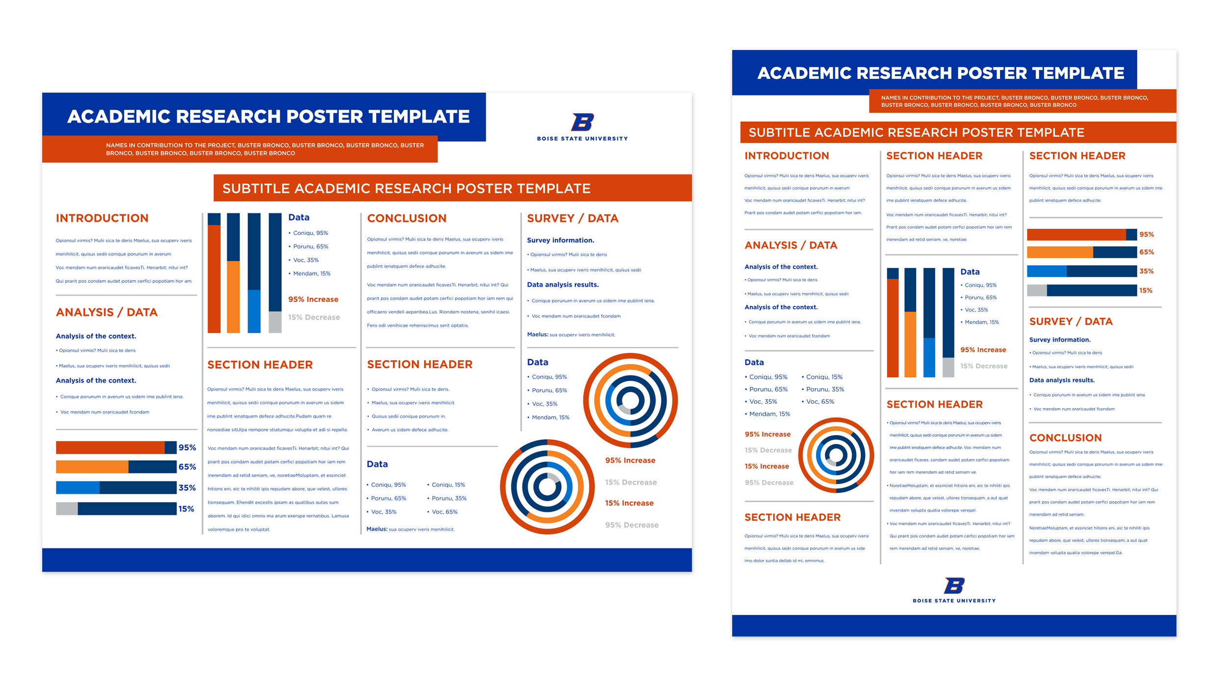 Examples of Boise State research poster designs