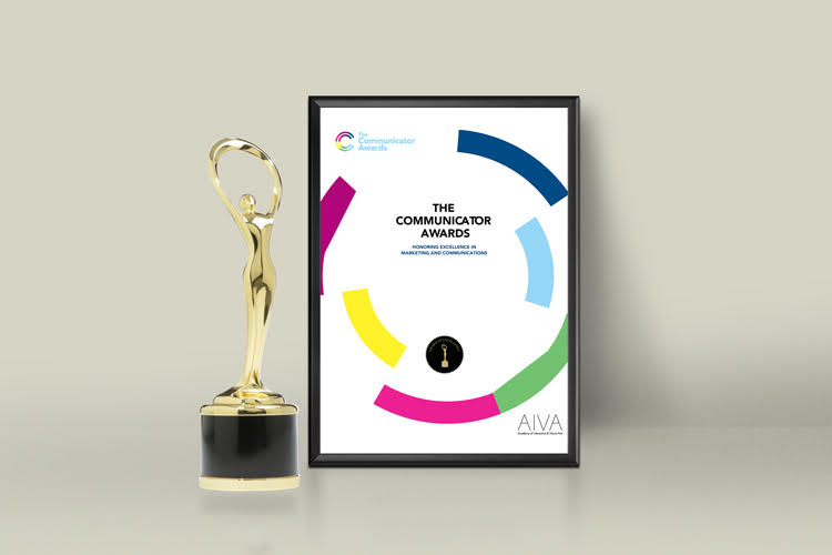 2019 Communicator Awards Excellence award statuette and certificate