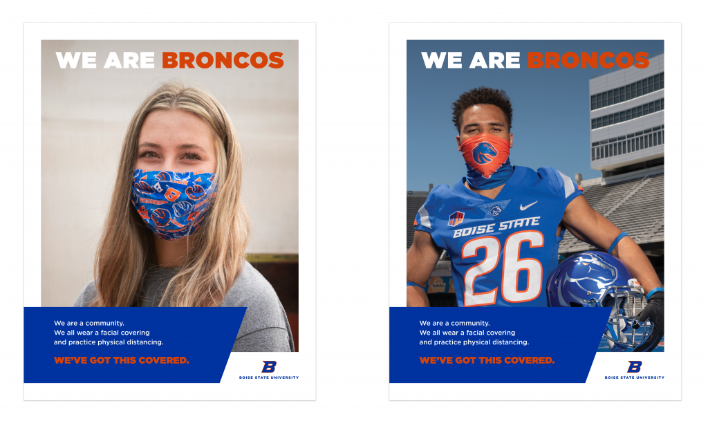 Two examples of the We've Got You Covered marketing flyers