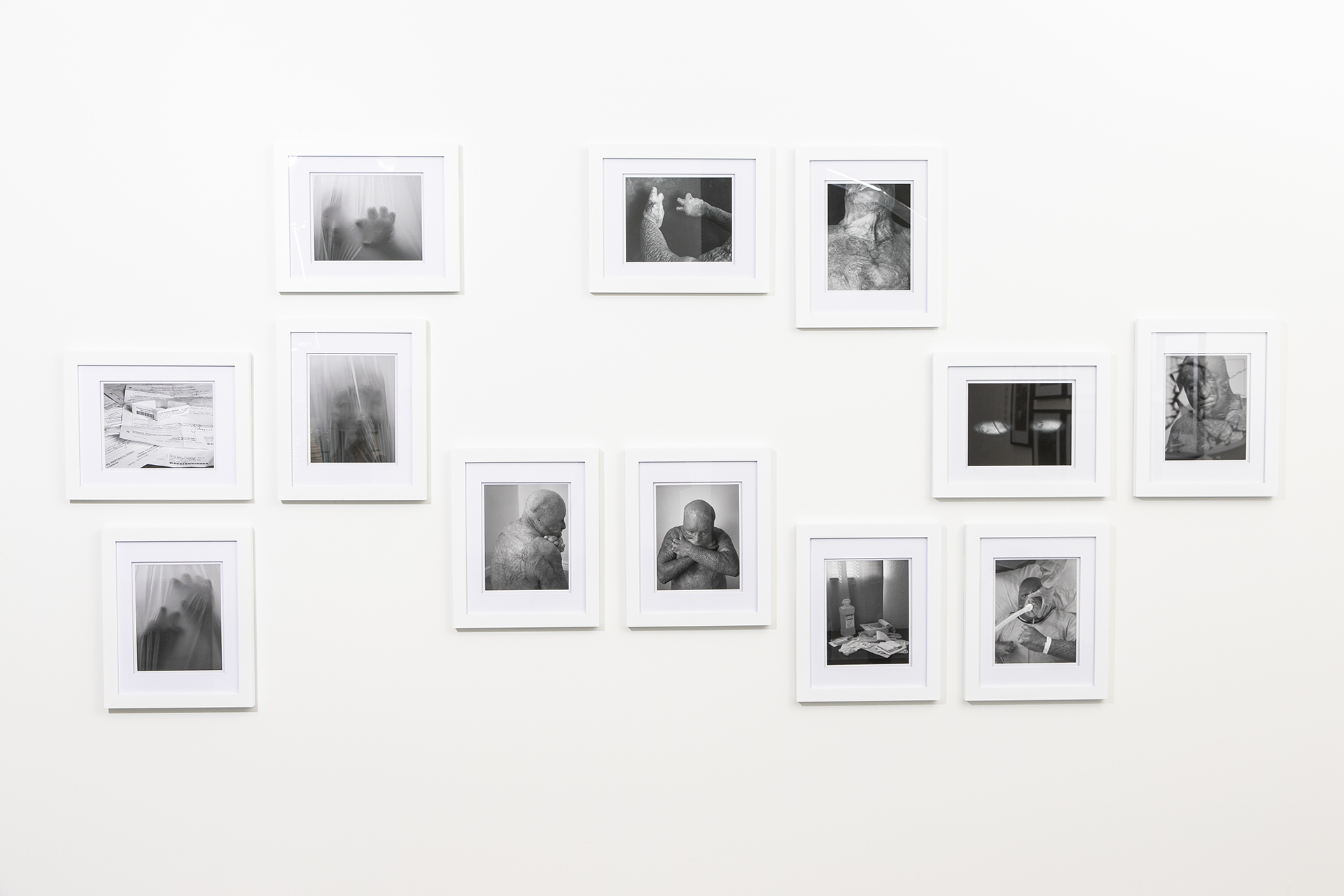 Manuel Ortiz Remembrance x Acceptance digital print installation on gallery wall.