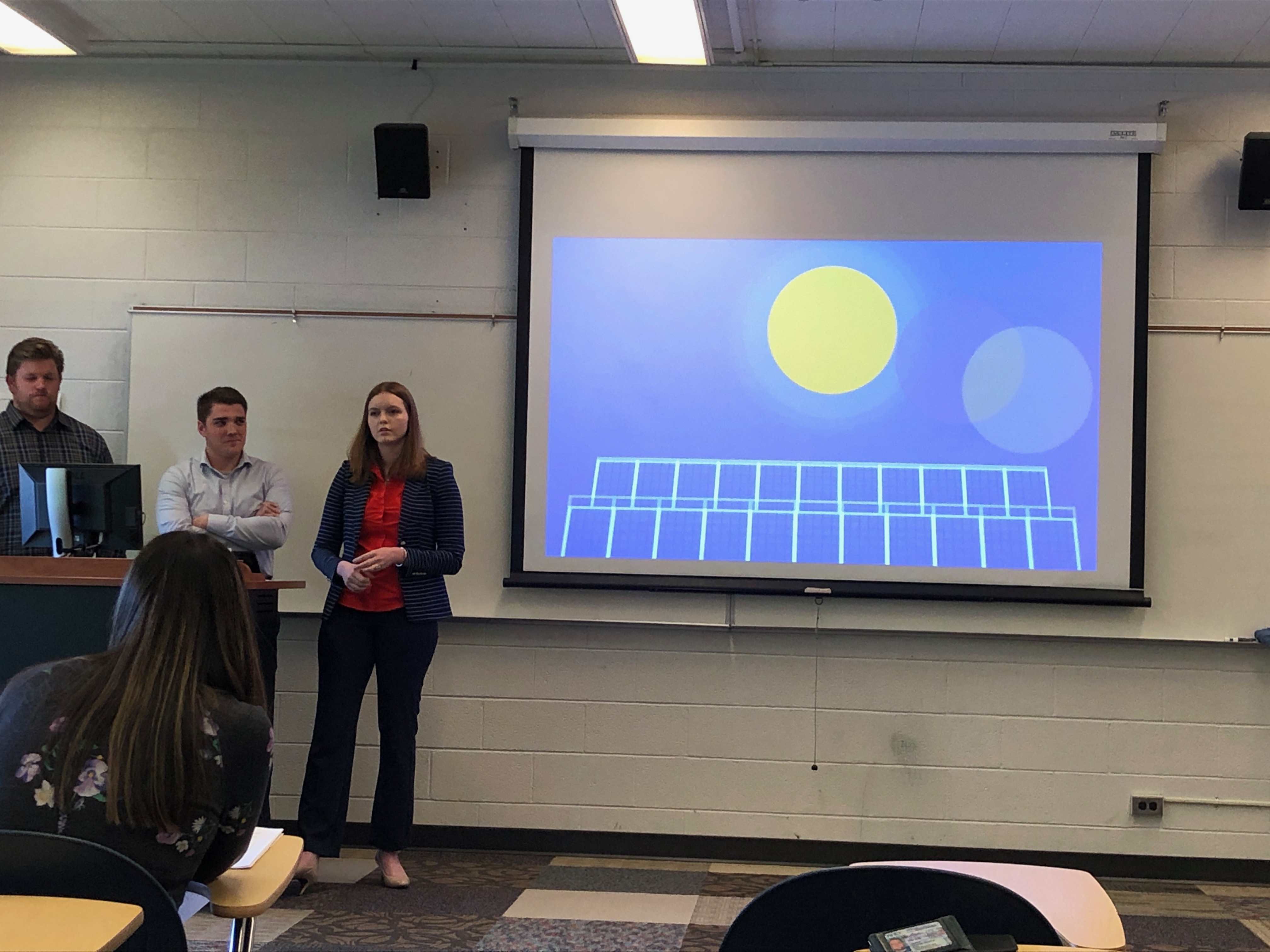 Capstone Students presenting their work for Sun Valley Institute
