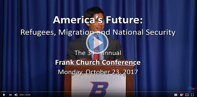 watch the 2017 Frank Church Conference video
