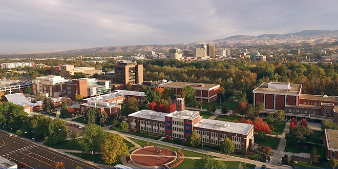 Photo of Boise State campus