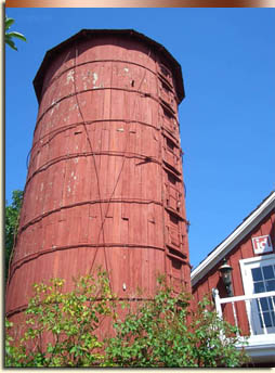 The 1923 Triangle Diary with its red silo and barn preserves the farm heritage of South Boise. Ada County.
