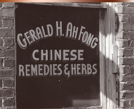 Herbs & Remedies Gerald Ah-Fong became the third generation in his family to practice Chinese medicine in Idaho's capital city. Following family tradition he returned to China for his formal medical training. Details of his education are not known but his medical writings and mastery of calligraphy suggest that he was well educated. Gerald practiced in Boise's Chinatown until 1964. With the Communist take over of China, the import of Chinese herbs became almost impossible. He could no longer take care of his Boise patients nor conduct his mail order business so Dr Ah-Fong left the majority of his apothecary materials to the care of the Hip Sing Tong and moved to Redwood City, California.