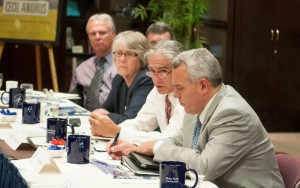 Picture of Board Members working at table