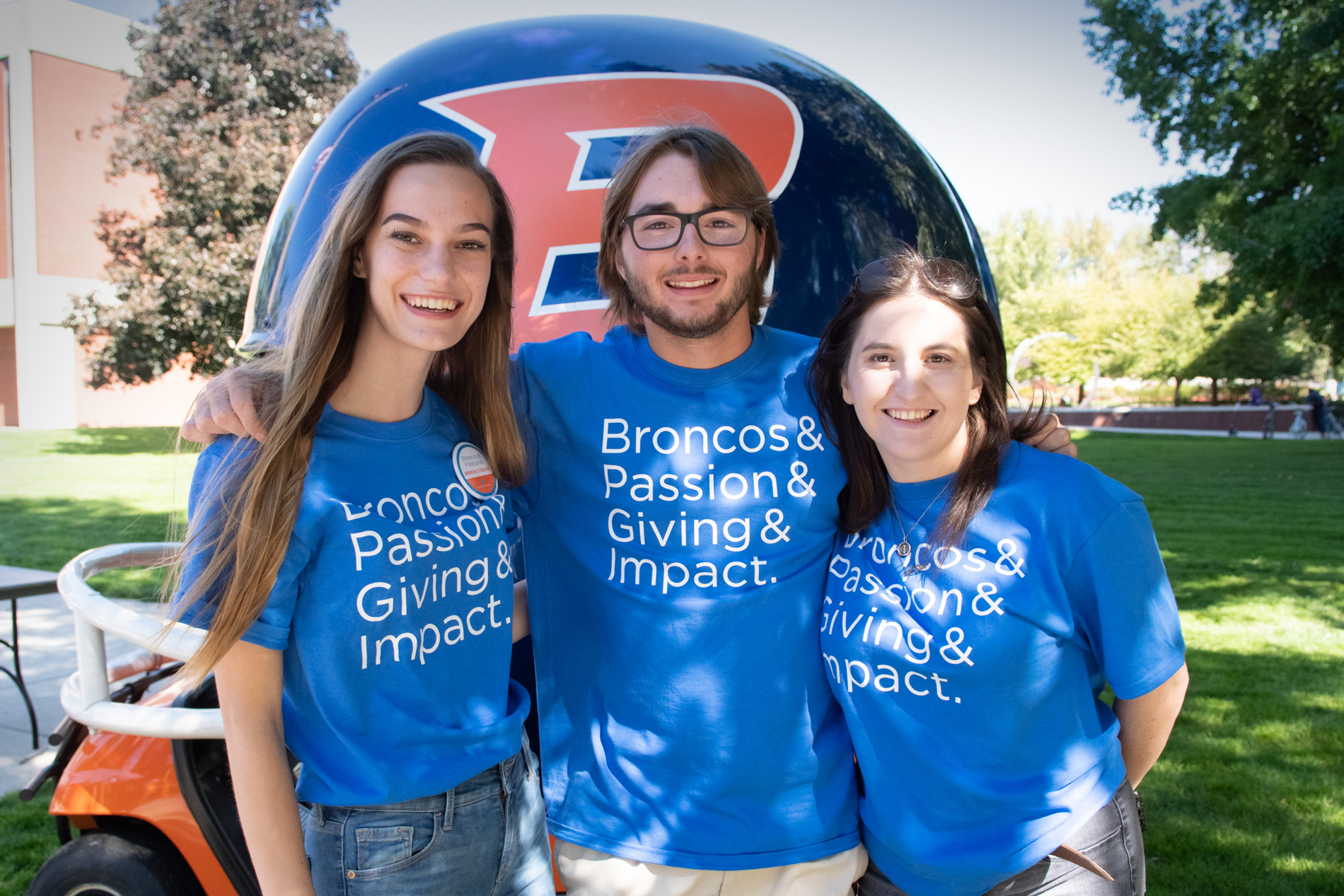 Students at Bronco Giving Day
