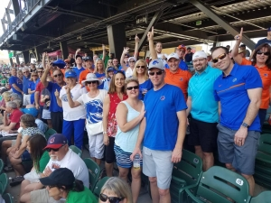 Boise State alumni and friends at spring training in phoenix