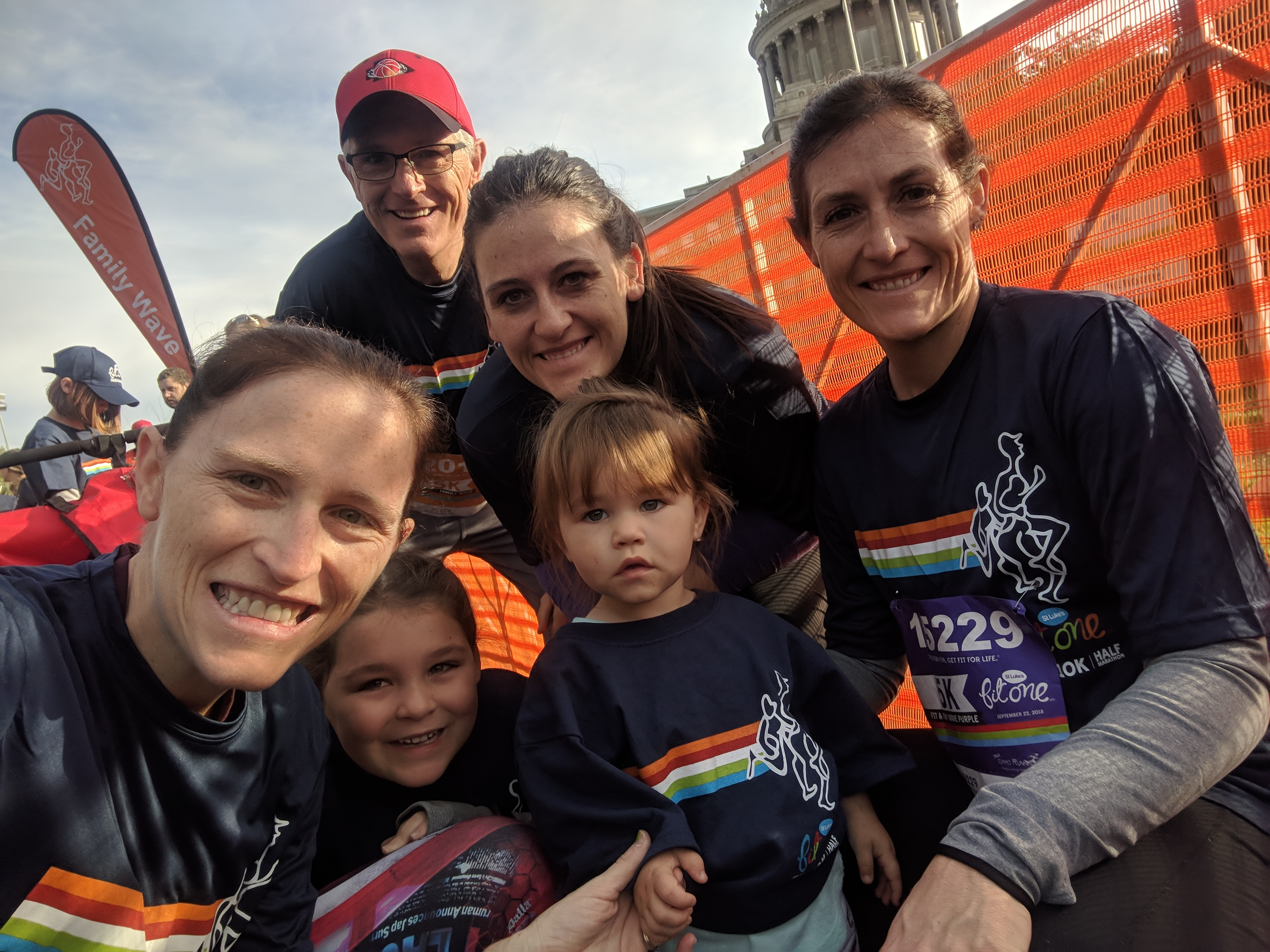 A family of Boise State alumni at the FitOne start line
