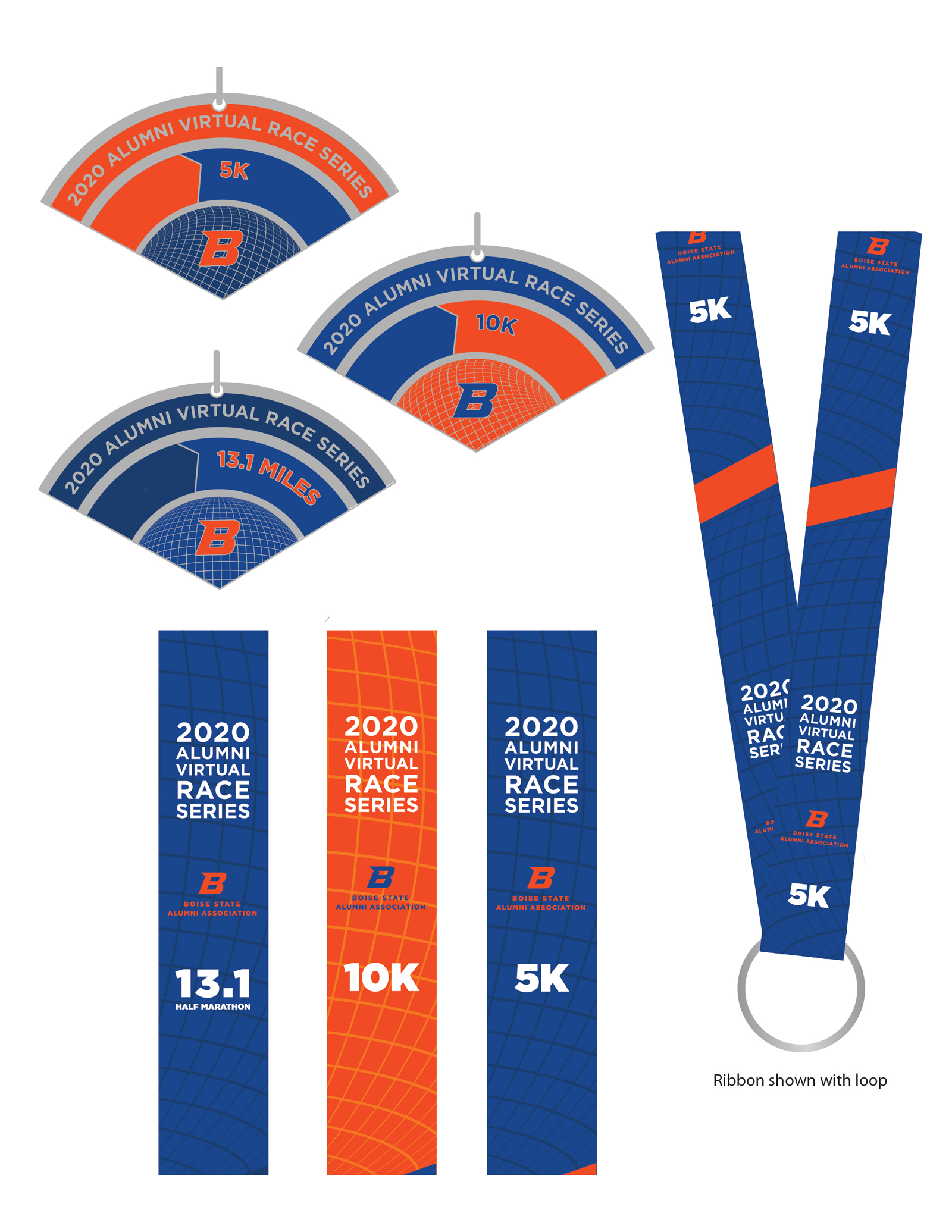 distance medals and lanyards