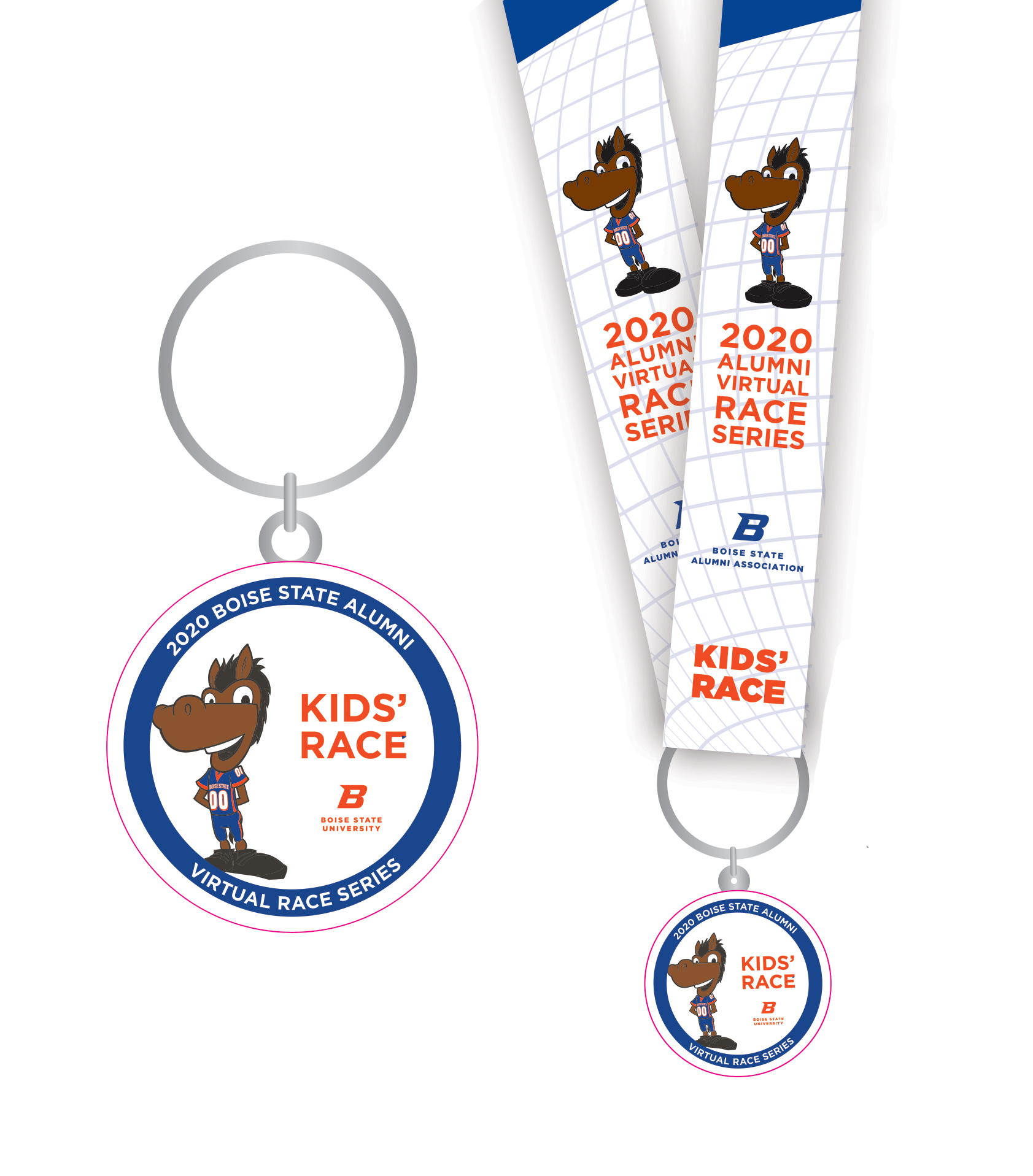 Buster Bronco medal and lanyard