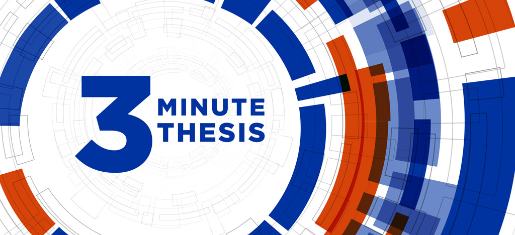 Graphic That says 3 Minute Thesis