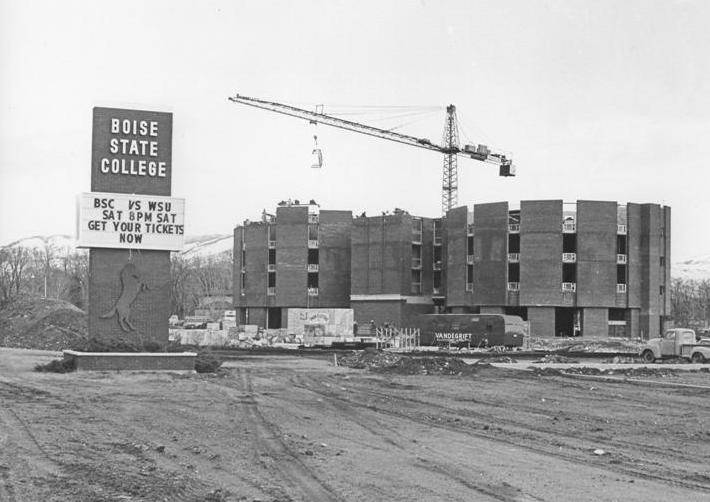 Towers Hall Construction 1970