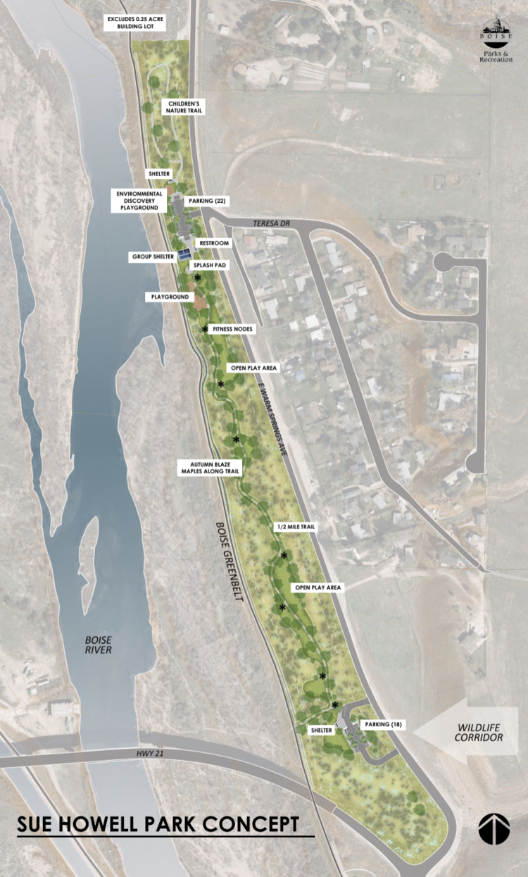draft plan for sue howell park