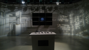 TV studio ready for the next show.