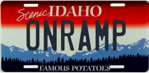 Idaho License Plate - vanity plate that says Onramp
