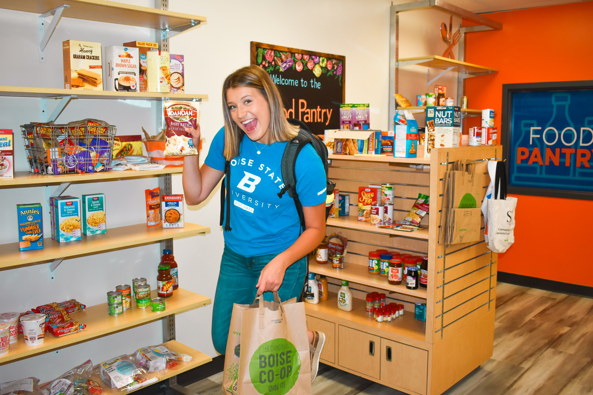 Shopping at the Campus Food Pantry