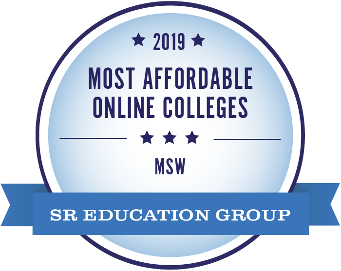 2019 Most Affordable Online Colleges - MSW - Sr Education Group Badge