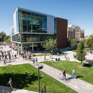 Boise State Integrated Learning Center aerial view