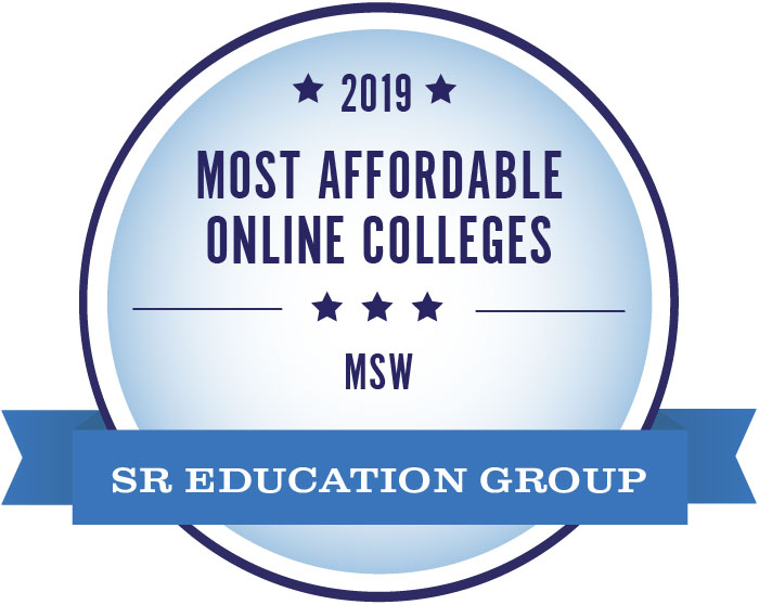 2019 Most Affordable Online Colleges MSW badge
