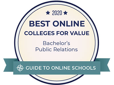 Boise State was ranked in the Best Online Bachelor's in Public Relations Degrees in 2020 according to the Guide to Online Schools