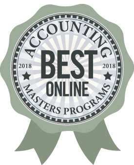 Badge, Accounting, Best Online Masters Programs 2018-19
