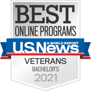 Boise State Online ranked in the near top 10% of best online bachelor degree programs for veterans by U.S. News and World Report