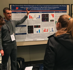Student presents research to conference attendees