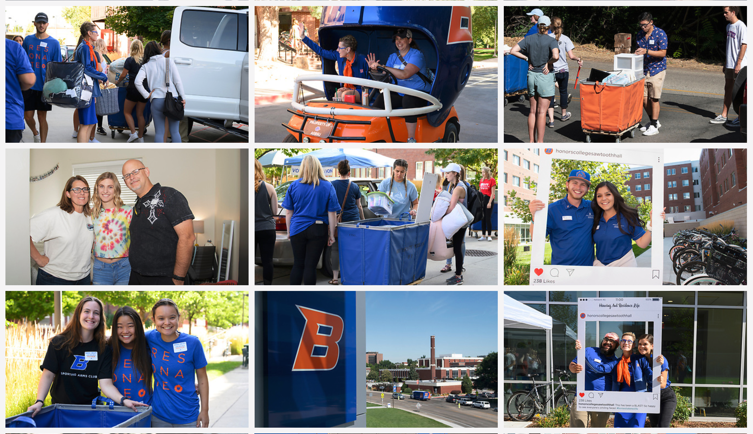 Photo collage of Move-in Day photos