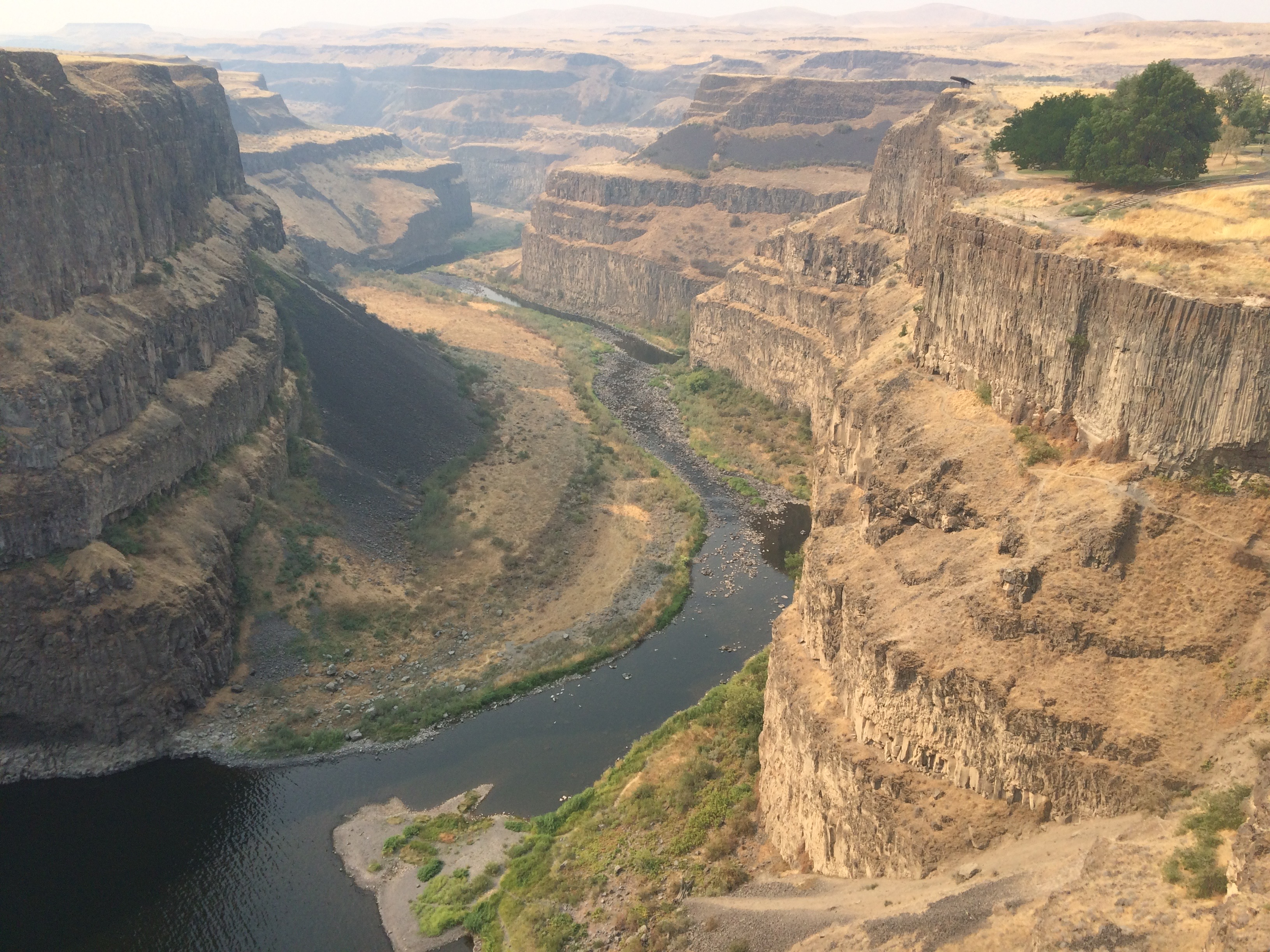 Photo looking down on the columbia river