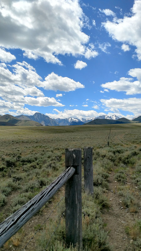 Livestock fence in High Divide landscape