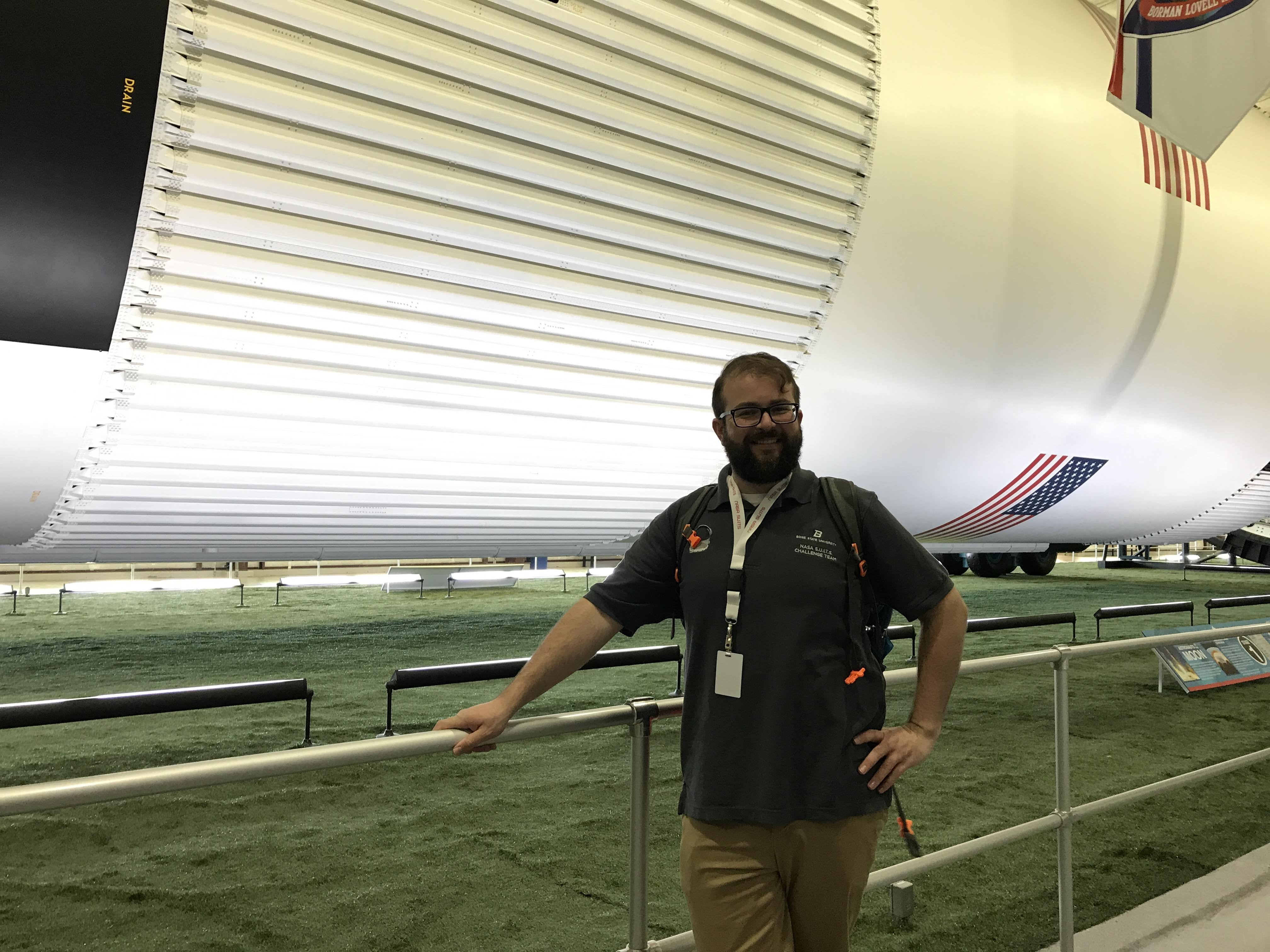 VIP student in Johnson Space Center