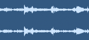Energy versus time representation of a stereo music audio signal