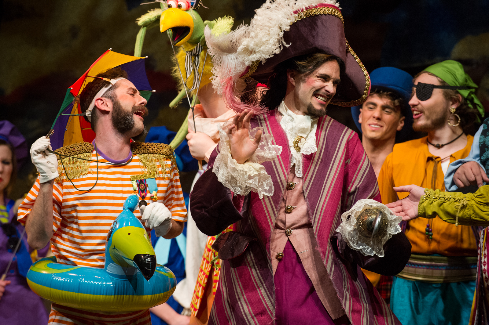 Theatre students in pirate costumes