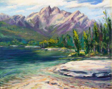 A painting of a Stanley Lake