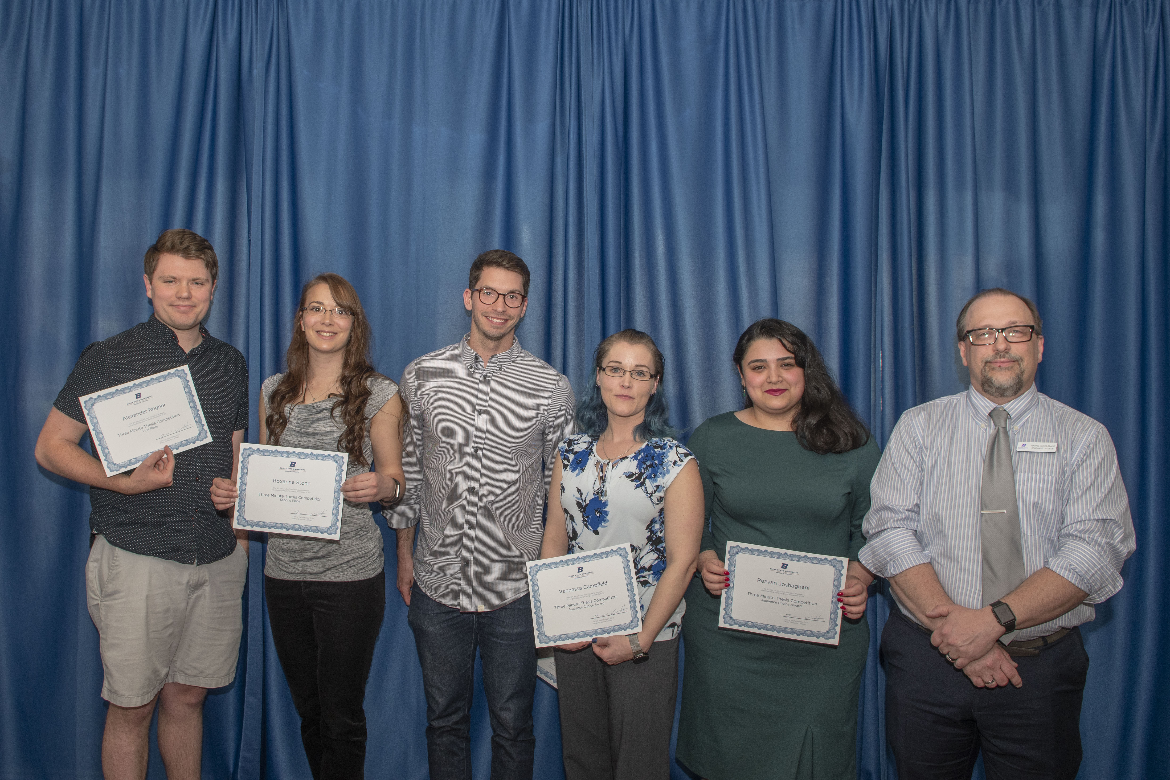 Three Minute Thesis Award winners pictured