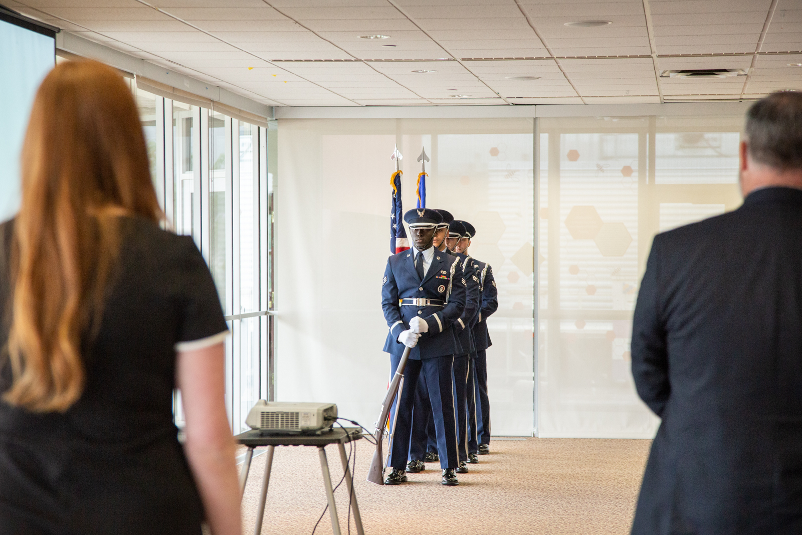 Mountain Home AFB Honor Guard at Boise State