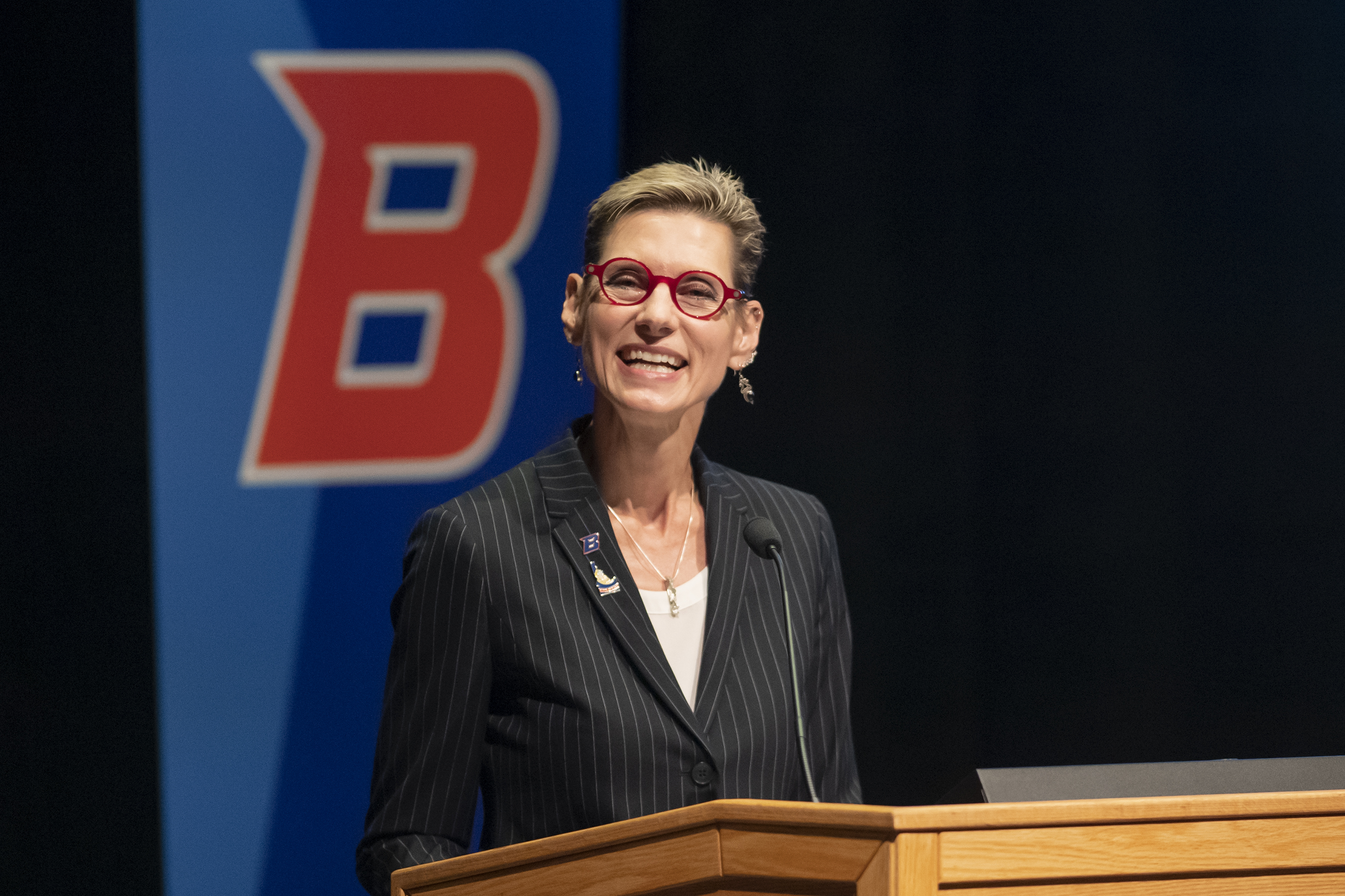 Marlene Tromp at State of the University address