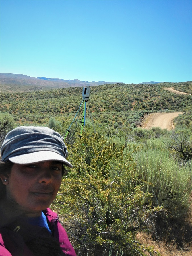 Nayani conducting research in drylands