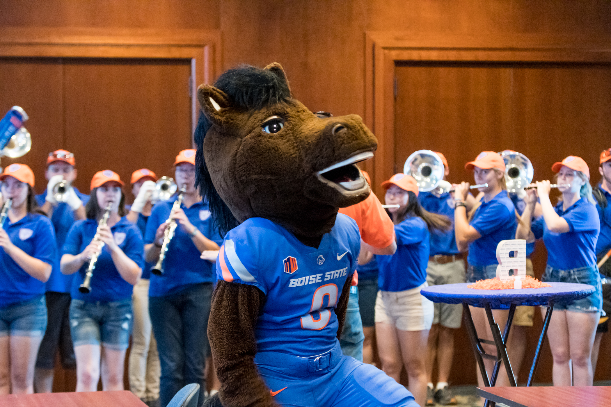 Buster Bronco at giving day 2018