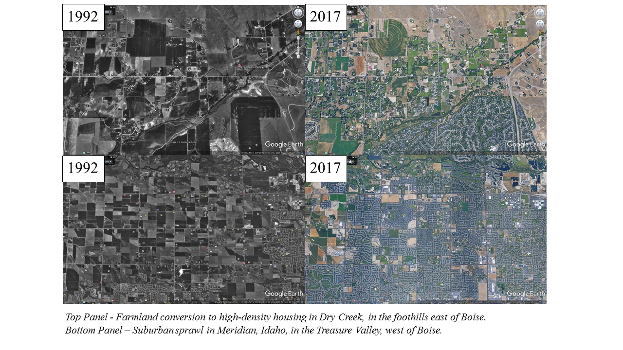 aerial maps showing disappearing farmland