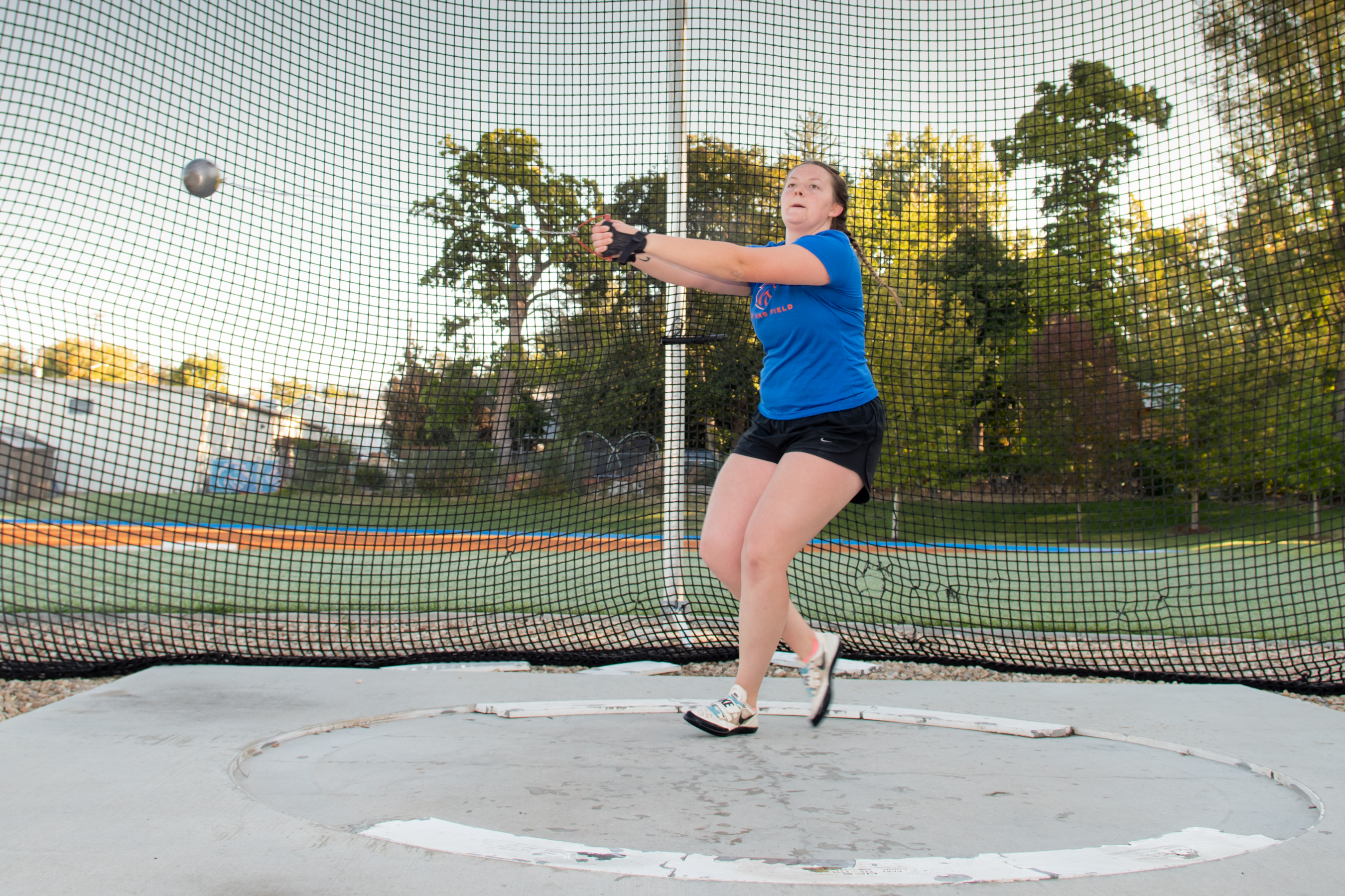 Kendra throwing hammerthrow